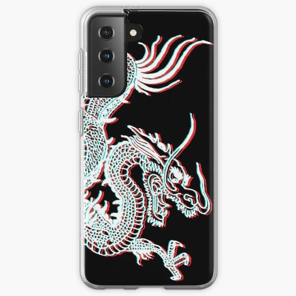 Chinese Dragon Glitch Samsung Galaxy Soft Case