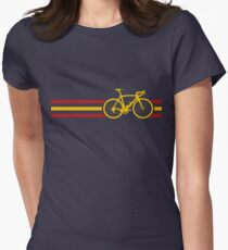 Bike Stripes Spanish National Road Race v2 Women's Fitted T-Shirt