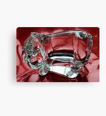 Eeyore in glass.......... Canvas Print
