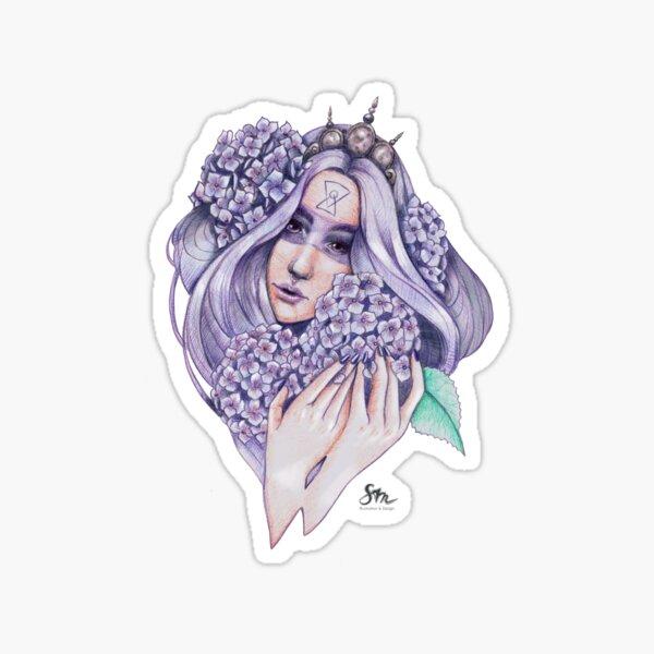 Hydrangea Fairy Sticker