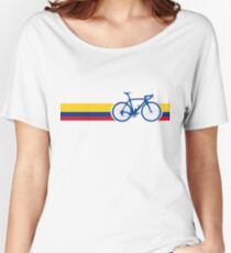 Bike Stripes Colombia National Road Race Women's Relaxed Fit T-Shirt