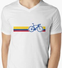 Bike Stripes Colombia National Road Race Men's V-Neck T-Shirt