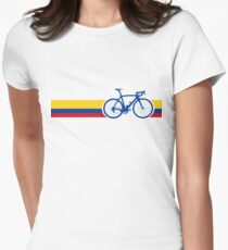 Bike Stripes Colombia National Road Race Women's Fitted T-Shirt