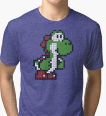Pixel Yoshi Tri-blend T-Shirt