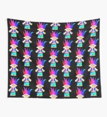 Funky 80's/90's Troll Doll inspired design Wall Tapestry