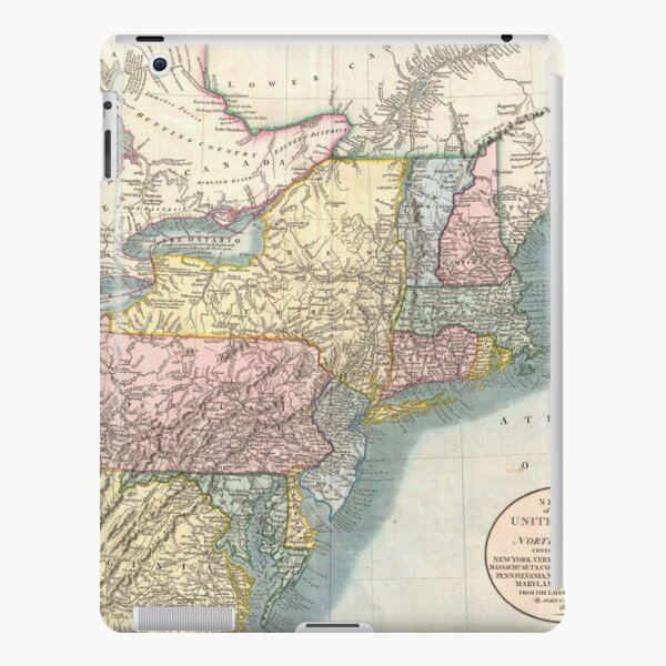Vintage Map of New England (1821)  iPad Snap Case
