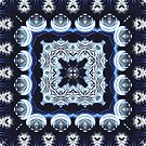 Abstract Pattern in Blue by ZedEx