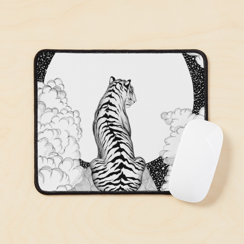 Tiger Moon Mouse Pad