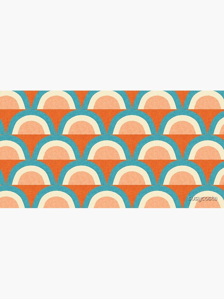 New Mid Mod Rainbow Magic Blue Orange #midcentury by susycosta