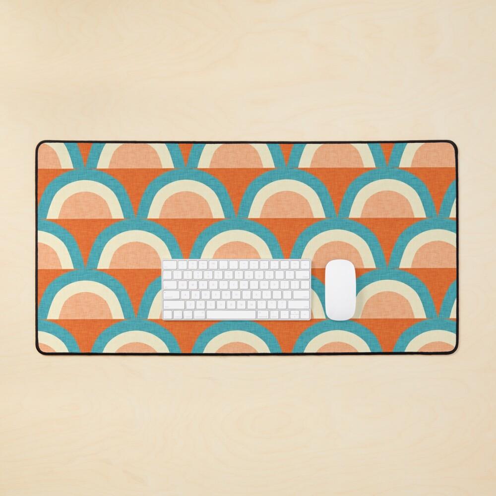 New Mid Mod Rainbow Magic Blue Orange #midcentury Mouse Pad