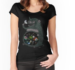 Space junkie stickers by nichole lillian ryan redbubble womens fitted scoop t shirt publicscrutiny