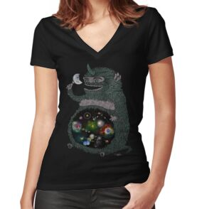 Space junkie spiral notebooks by nichole lillian ryan redbubble womens fitted v neck t shirt publicscrutiny Gallery
