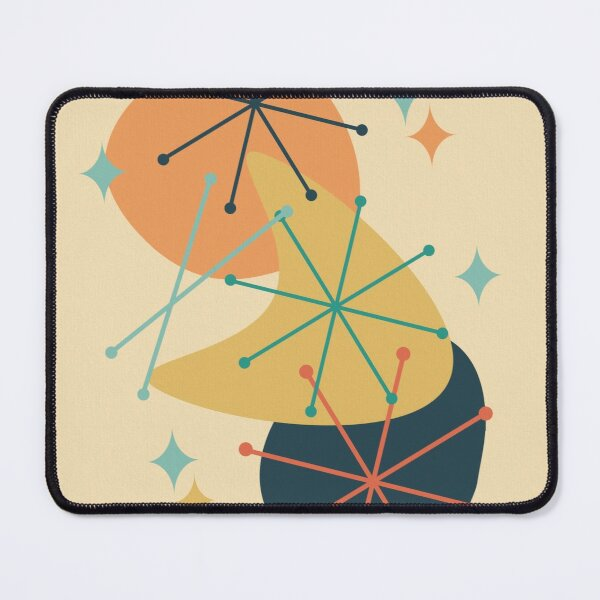 Mid Century Atomic Age Composition 2 Mouse Pad