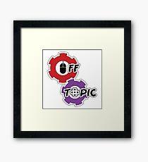 Off Topic Logo Framed Print
