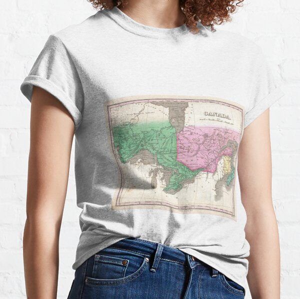 Vintage Map of Ontario and Quebec (1827) Classic T-Shirt