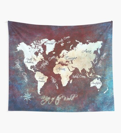 world map 19 Wall Tapestry