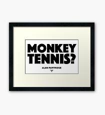 Alan Partridge - Monkey Tennis Framed Print
