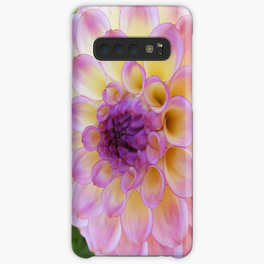 PURPLE DAHLIA FLOWER PETALS Case & Skin for Samsung Galaxy