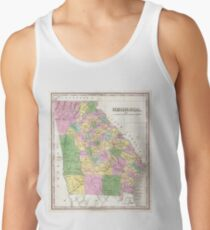 Vintage Map of Georgia (1827) Tank Top