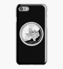 Texas, quarter, dollar, coin, 1845, 2004, State of Texas, American, America, USA, US iPhone Case/Skin