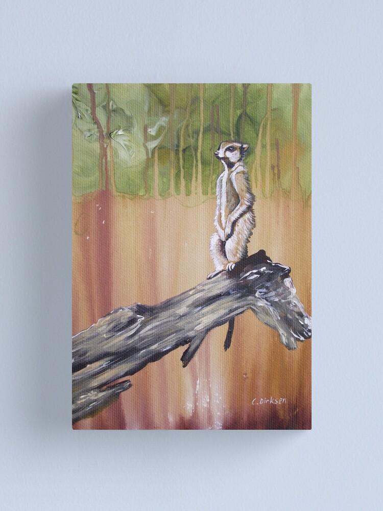 Alternate view of Meerkat Lookout Canvas Print