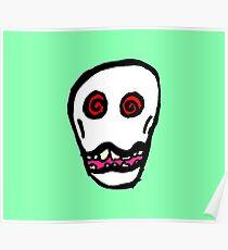 Weird Skull Poster