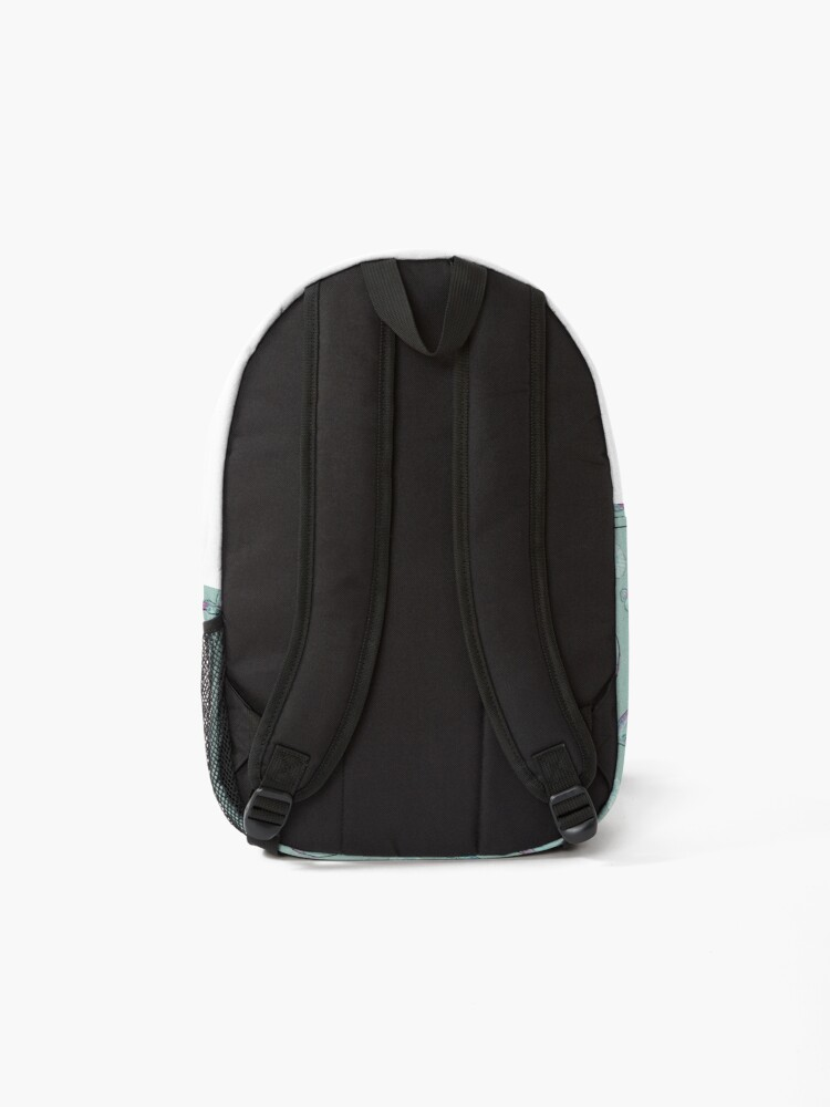 Alternate view of Seashell Pattern in Aqua, Turquoise, Pink and White Backpack
