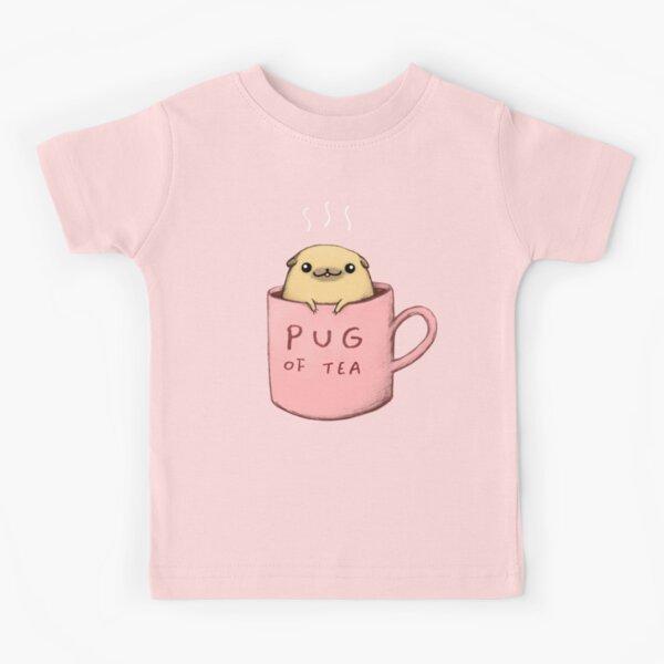 Pug of Tea Kids T-Shirt