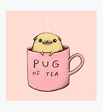 Pug of Tea Photographic Print