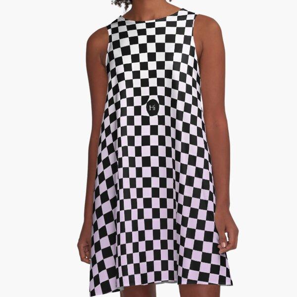 Checkers Blush of Purple A-Line Dress