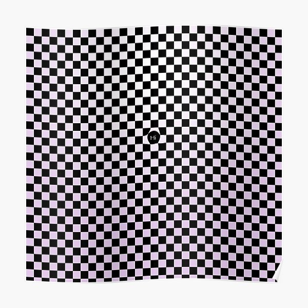 Checkers Blush of Purple Poster