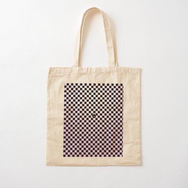 Checkers Blush of Purple Cotton Tote Bag