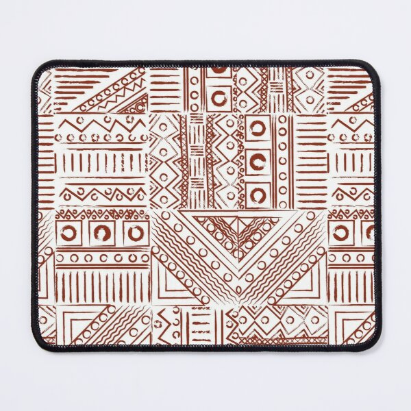 Brown color trible art pattern Mouse Pad