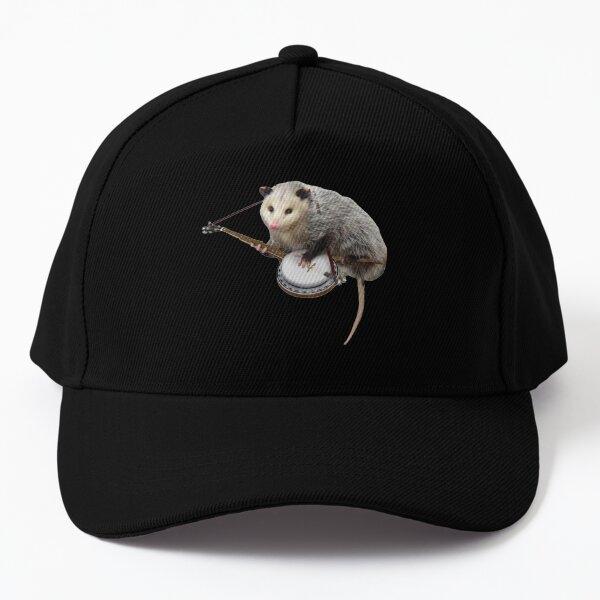 Opossum Playing Banjo Baseball Cap
