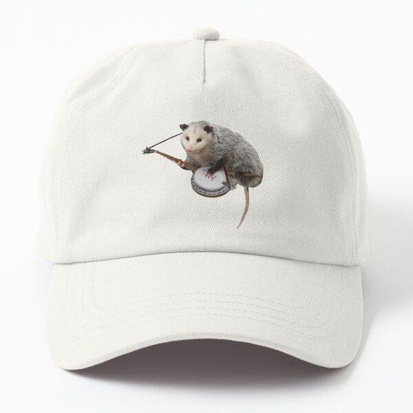 Opossum Playing Banjo Dad Hat