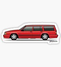 Volvo 740 745 SE Turbo Classic Red Sticker