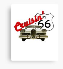 Cruisin' the Mother Road - US Route 66 Canvas Print