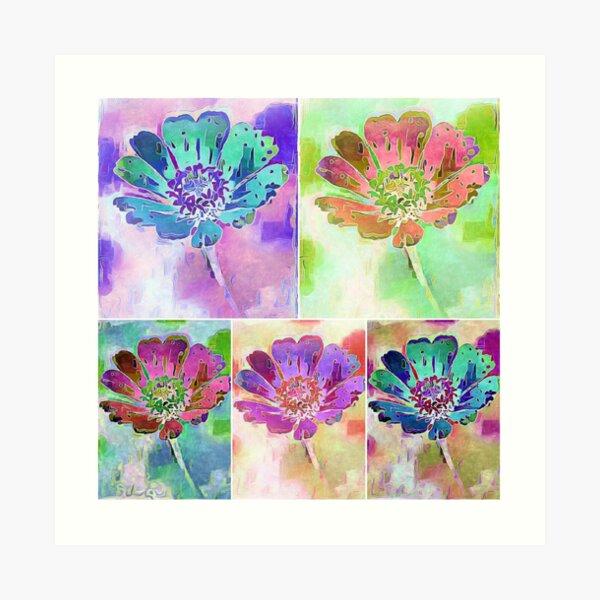 Pastel Passion Collage Art Print