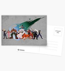 Final Fantasy VII Characters Postcards