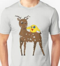 Diego the Deer and Yellow Bird T-Shirt