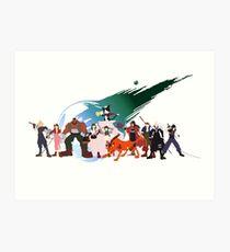 (NO BACKGROUND) Final Fantasy VII Characters Art Print