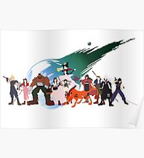 (NO BACKGROUND) Final Fantasy VII Characters Poster