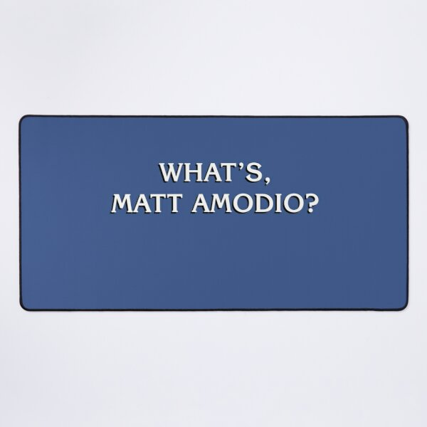 What's Matt Amodio? Jeopardy Champion in Style Desk Mat
