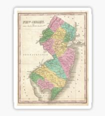 Vintage Map of New Jersey (1827) Sticker