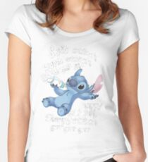 Soft Kitty - Stitch Women's Fitted Scoop T-Shirt