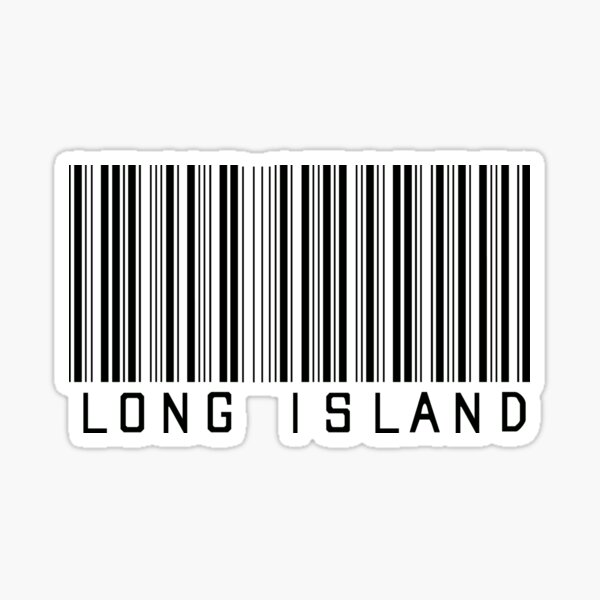 Long Island Barcode  Sticker