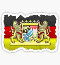 Bavaria coat of arms / flag carved in stone Sticker