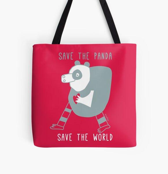 save the panda save the world! All Over Print Tote Bag
