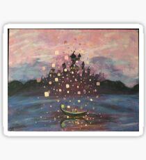 Tangled Lantern Painting Sticker