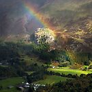 Rainbows End at Castle Rock in St Johns in the Vale by Martin Lawrence
